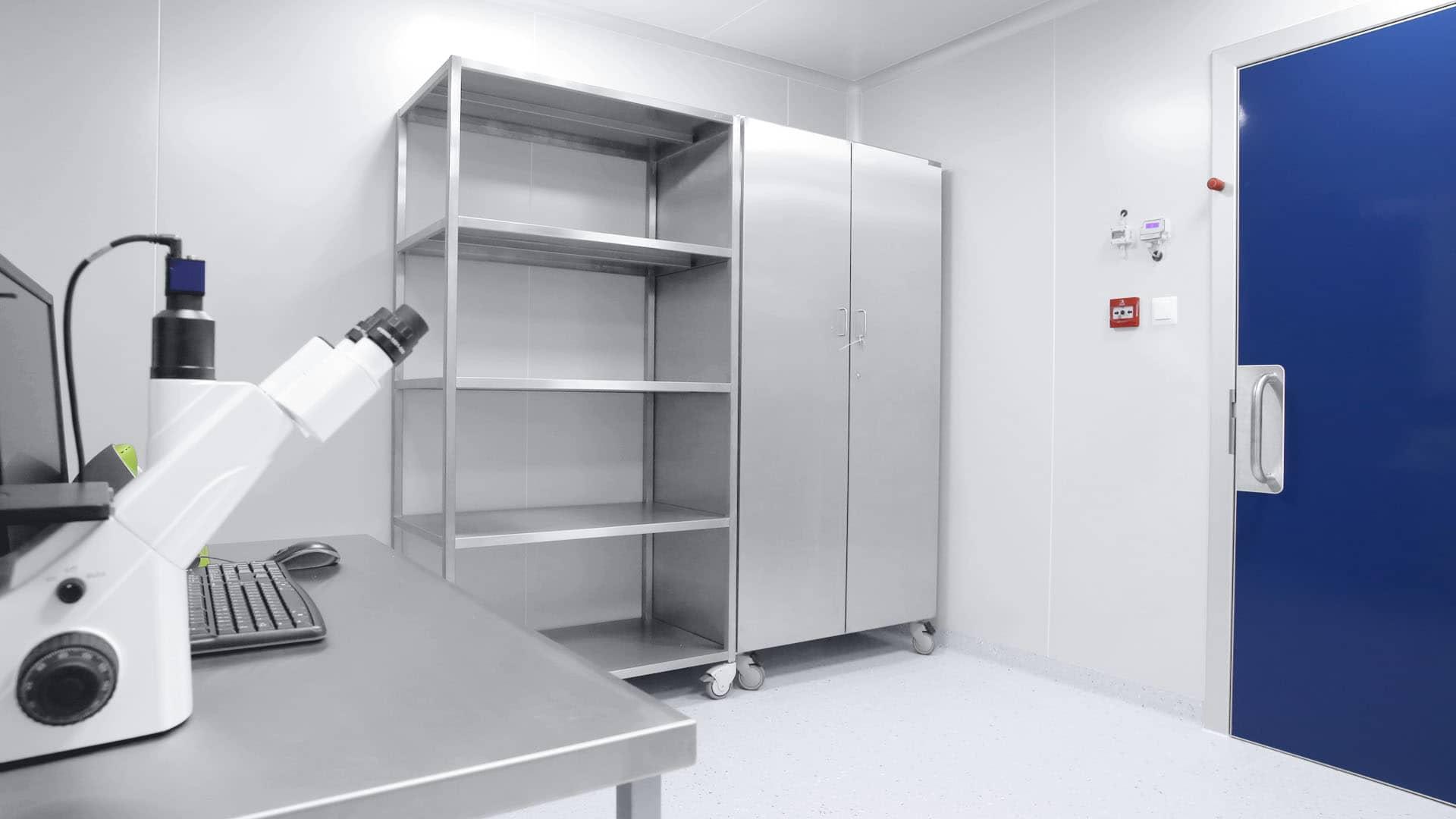 Wyposażenie stref czystych clean room